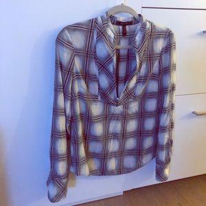 Plaid, BCBG blouse